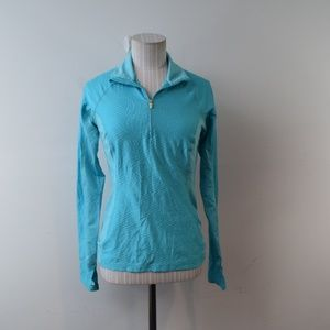 Lucy Tech Pullover Light Blue Textures XS